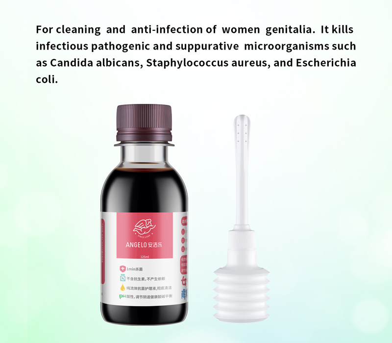 Angelo® Women's care kit (Antiseptic solution + lavage bottle)